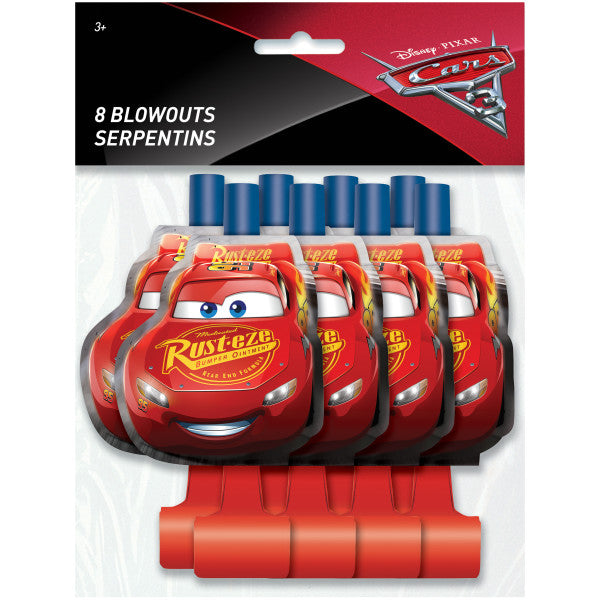 Disney Cars 3 Movie Blowouts, 8ct