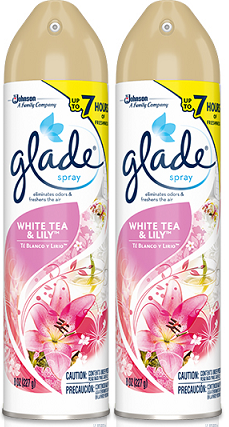 Glade Spray White Tea & Lily Air Freshener, 8 oz (Pack of 2)