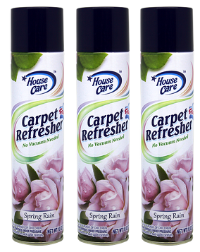 House Care Carpet Refresher Foam Spring Rain Scent, 10 oz. (Pack of 3)