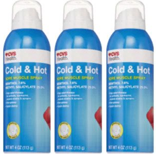 CVS Health Cold & Hot Medicated Spray 4 oz. (EXP 05/21) (Pack of 3)