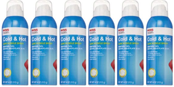 CVS Health Cold & Hot Medicated Spray 4 oz. (EXP 05/21) (Pack of 6)