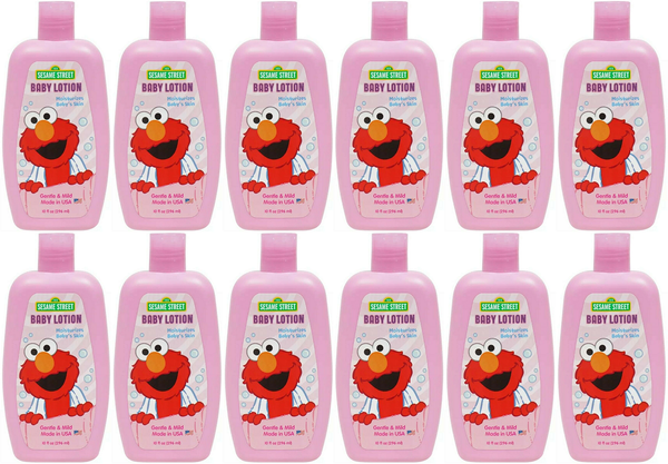 Sesame Street Baby Lotion Hypo-Allergenic, 10 fl. oz. (Pack of 12)
