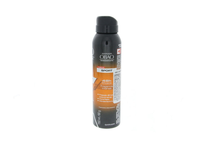 Garnier Obao Desodorante Sport 48 Hour Deodorant Body Spray, 150 ml