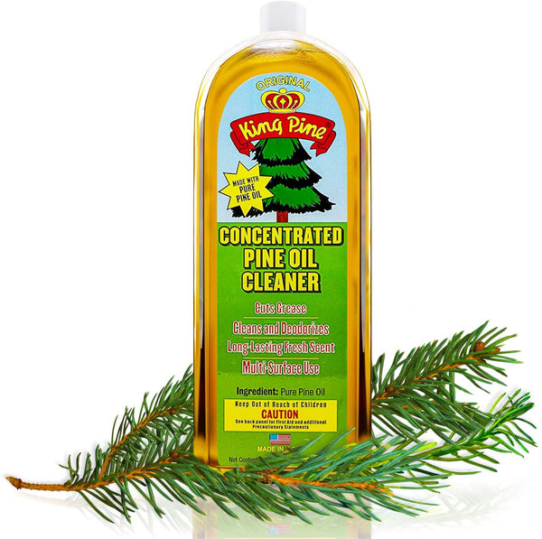 King Pine Concentrated Pine Oil Multi-Surface Cleaner Industrial Strength, Gold, 8 fl oz