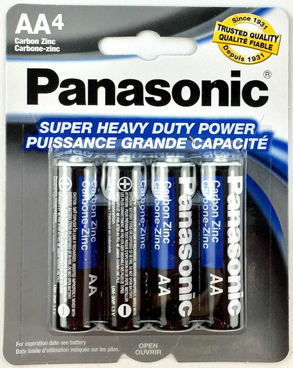Panasonic AA Super Heavy Duty Power Batteries, 4 ct.