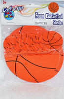 Craft for Kids 20 Foam Basketball Shapes, 1-ct