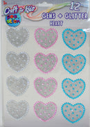 Craft for Kids Gems + Glitter Heart, 1-ct