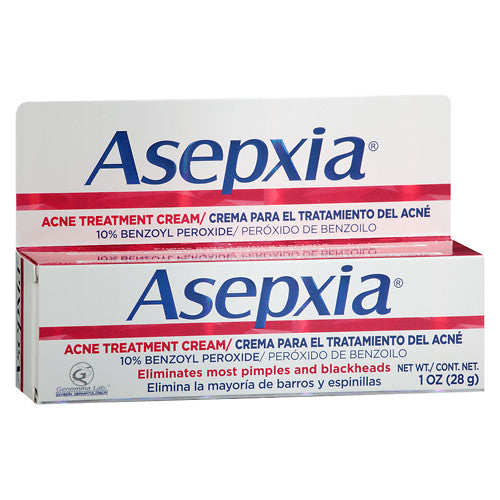 Asepxia Acne Treatment Cream 10% Benzoyl Peroxide, 1 oz