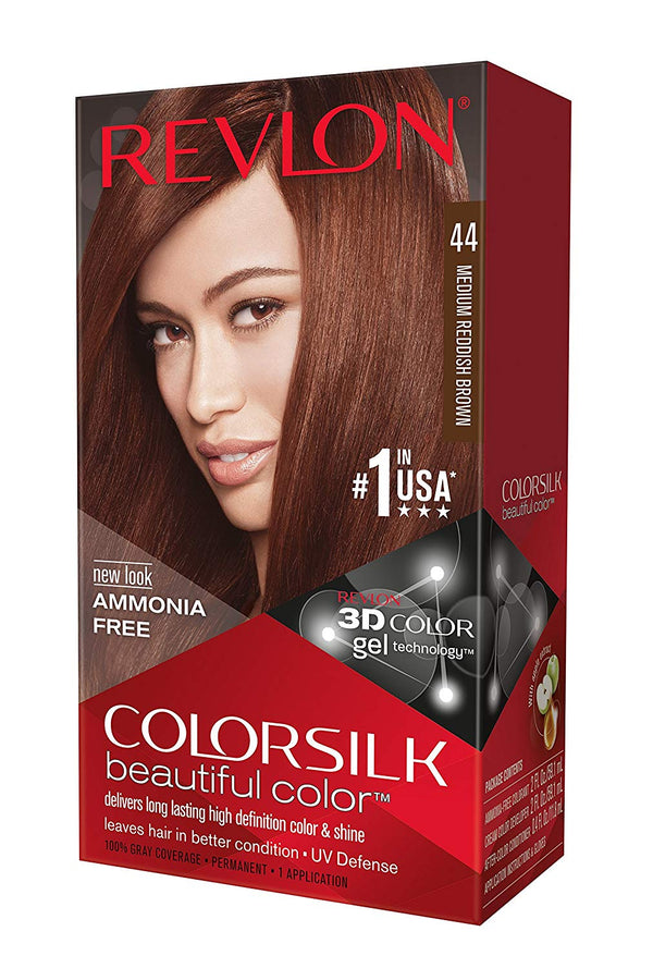 Revlon ColorSilk Beautiful Color™ Hair Color - 44 Medium Reddish Brown