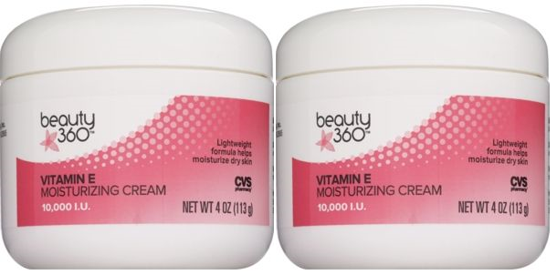 CVS Beauty 360 Vitamin E Moisturizing Cream 10,000 I.U. 4.0 oz (Pack of 2)