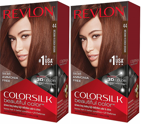 Revlon ColorSilk Beautiful Color™ Hair Color - 44 Medium Reddish Brown (Pack of 2)