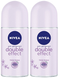 Nivea Double Effect Anti-Perspirant Deo Roll on, 50 ml (Pack of 2)