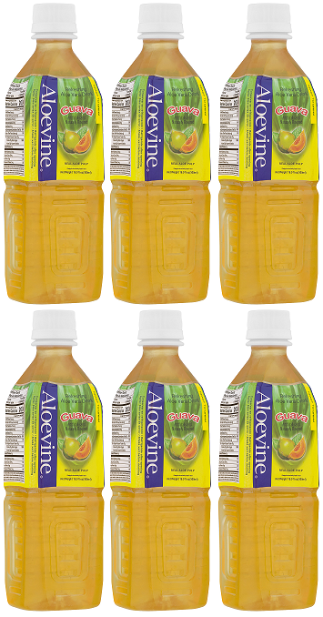 Aloevine Guava Drink, 500 ml (Pack of 6)