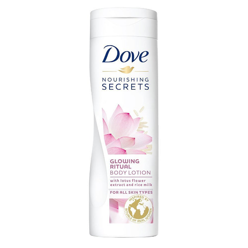 Dove Glowing Ritual Body Lotion With Lotus Flower Extract & Rice Milk, 400 ml