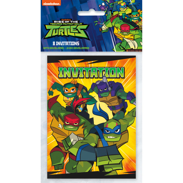 Rise of the TMNT Invitations, 8ct