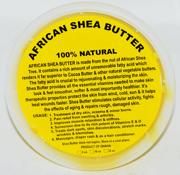 African Shea Butter 100% Natural, 16 oz.