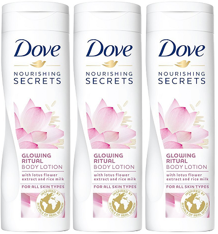 Dove Nourishing Secrets Glowing Ritual Body Lotion, 250 ml (Pack of 3)
