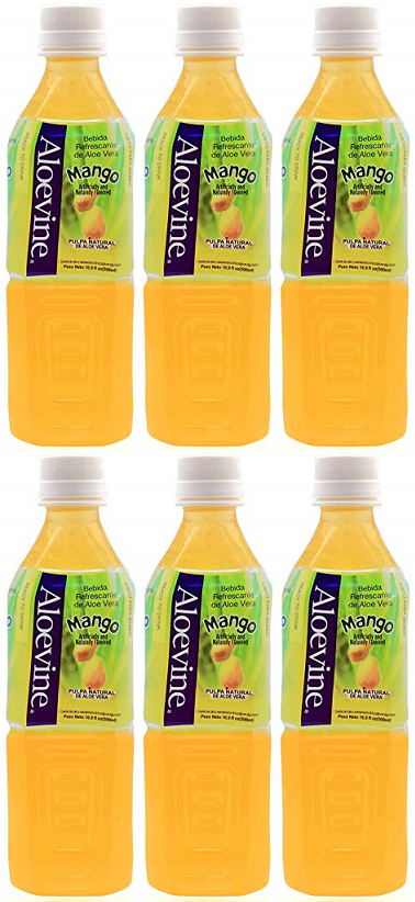 Aloevine Mango Drink, 500 ml (Pack of 6)