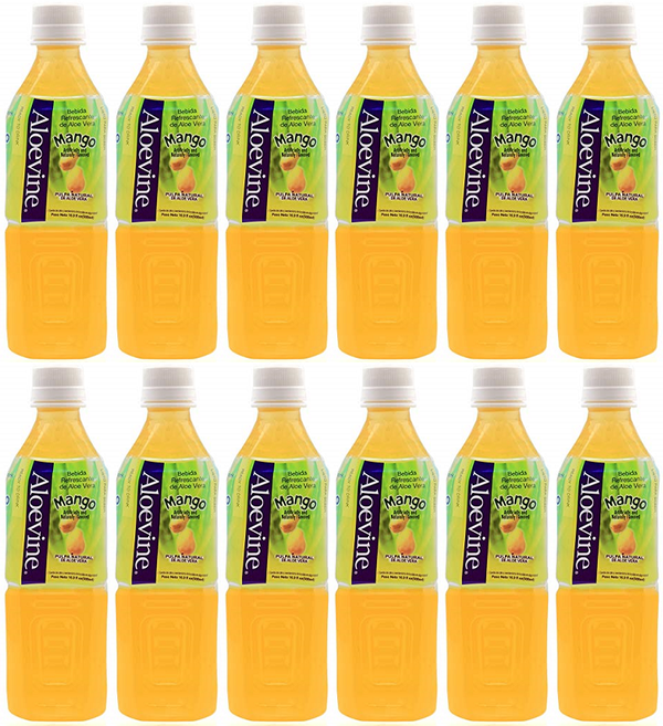 Aloevine Mango Drink, 500 ml (Pack of 12)