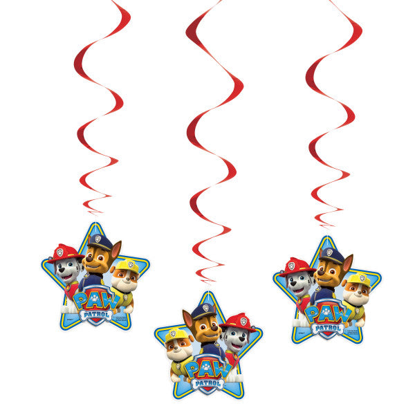 "Paw Patrol Hanging Swirl Decorations, 26"", 3ct"