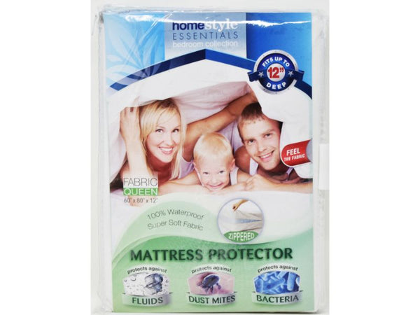 "Mattress Protector Fabric King size 78"" x 80"" x 12"", 1-ct"