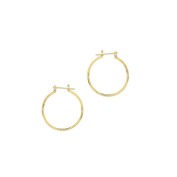 14 KT Pincatch Earrings, 35 mm