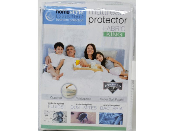 "Mattress Protector Fabric Queen size 60"" x 80"" x 12"", 1-ct"