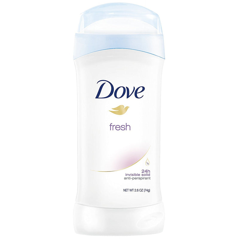 Dove Fresh Invisible Solid 24 Hour Anti-Perspirant Deodorant, 2.6 oz