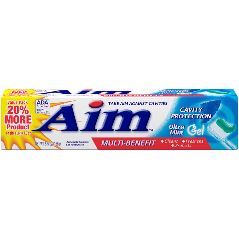 Aim Cavity Protection Ultra Mint Paste, 5.5 oz.