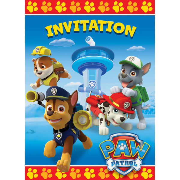 Paw Patrol Invitations, 8ct