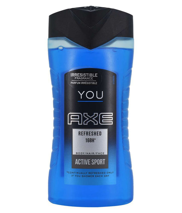 Axe You Refreshed 168H Body/Hair/Face Active Sport Body Wash, 250 ml