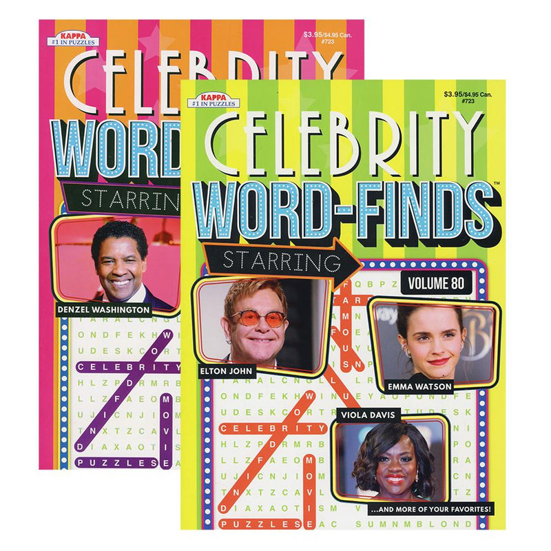 Celebrity Word-Finds Puzzle Book, 1-ct
