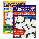 Crosswords Large Print Book, 1-ct