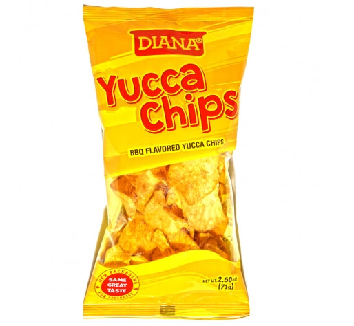 Diana Yucca Chips BBQ Flavored Yucca Chips, 2.50 oz.