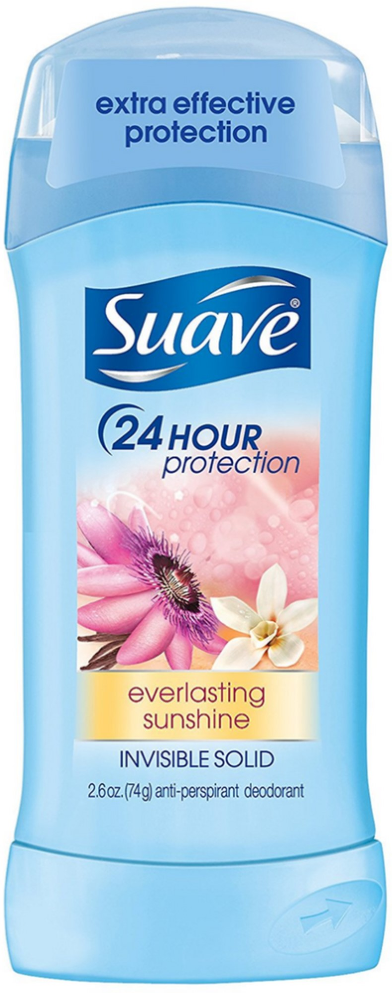 Suave Everlasting Sunshine 24 Hour Protection Invisible Solid Deodorant, 2.6 oz.