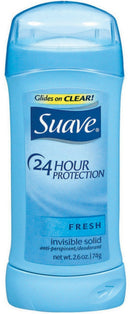 Suave Fresh 24 Hour Protection Invisible Solid Deodorant, 2.6 oz.