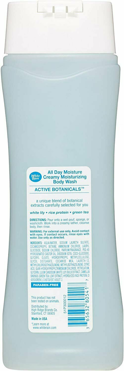 White Rain Moisturizing Body Wash Creamy All Day Moisture, 12 fl oz.
