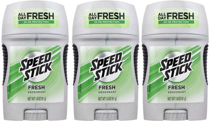Speed Stick Fresh 24 Hour Protection Deodorant, 1.8 oz. (Pack of 3)