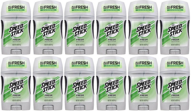 Speed Stick Fresh 24 Hour Protection Deodorant, 1.8 oz. (Pack of 12)