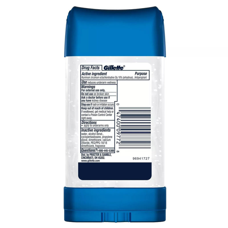 Gillette Clear Gel Cool Wave Anti-Perspirant Deodorant 3.8 oz.