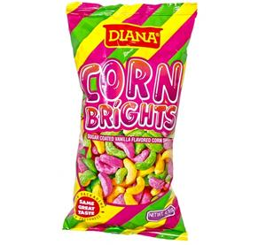 Diana Corn Brights Sugar Coated Vanilla Flavored Corn Snack, 4.76 oz.