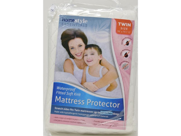 "Mattress Protector Twin size 39"" x 75/12"", 1-ct"