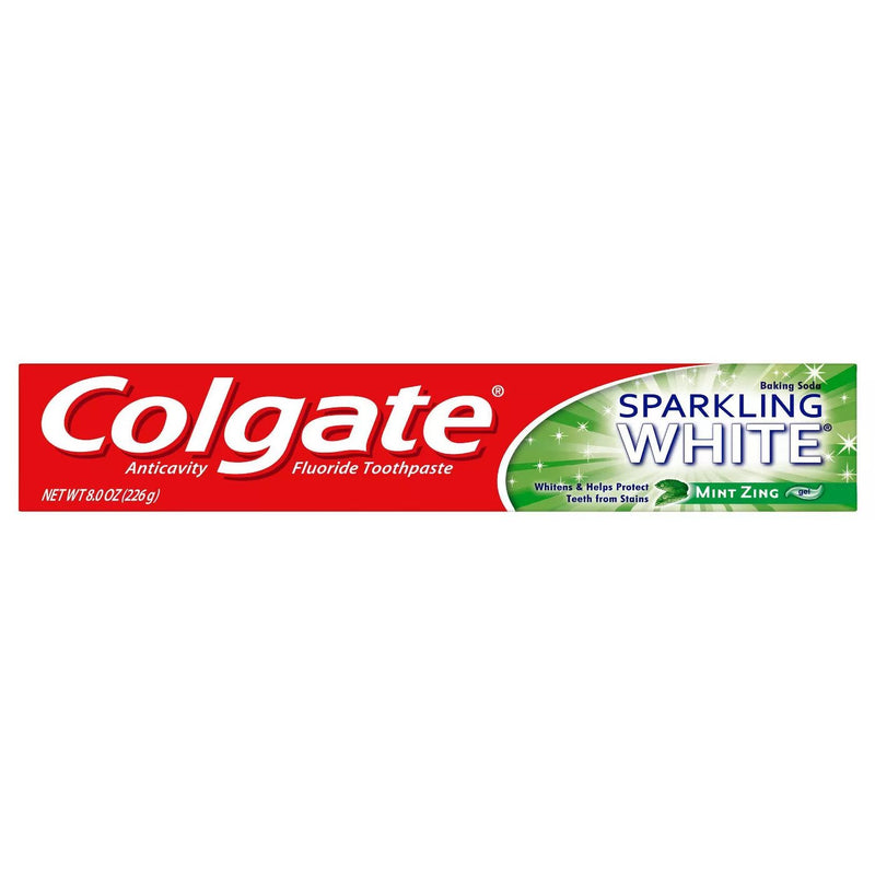 Colgate Sparking White Mint Zing, 8.0 oz.