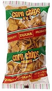 Diana Corn Hot Chips Picante, 4.30 oz