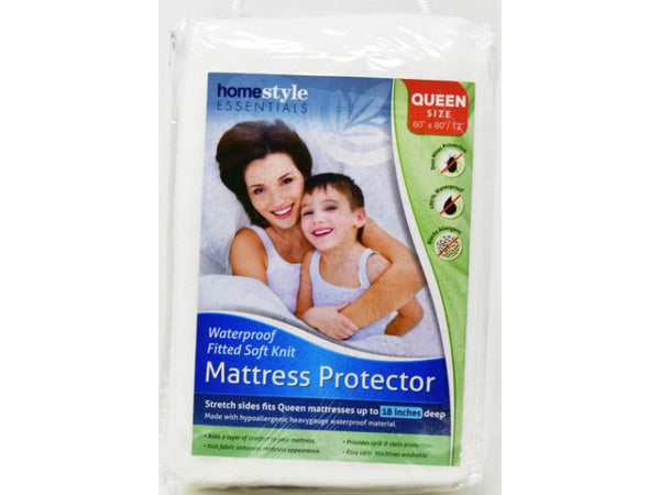 "Mattress Protector Queen size 60"" x 80/12"", 1-ct"