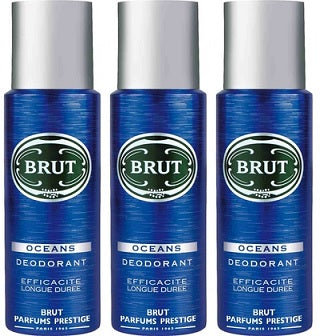 Brut Oceans Deodorant Spray, 200ml (Pack of 3)
