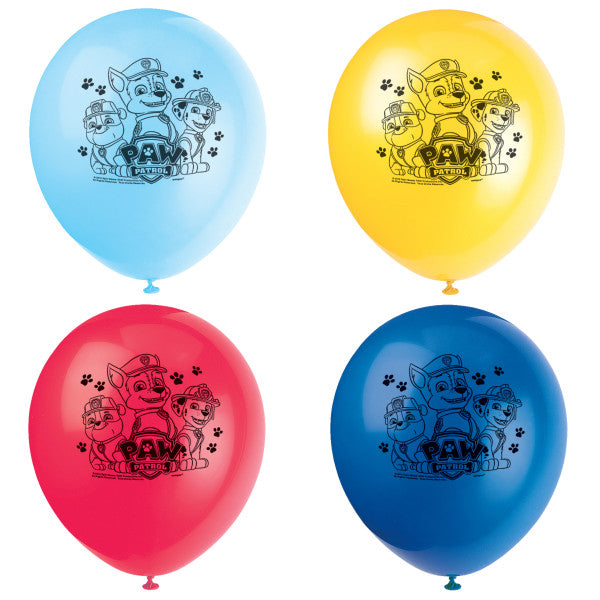 "Paw Patrol 12"" Latex Balloons, 8ct"