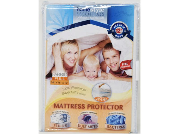 "Mattress Protector Fabric Full size 54"" x 75 x 12"", 1-ct"
