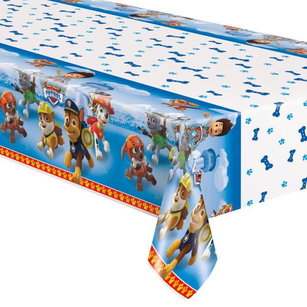 "Paw Patrol Rectangular Plastic Table Cover, 54""x84"""