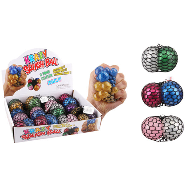 3 Tone Glitter Squish Ball, 1-ct.